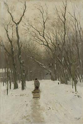Winter In The Scheveningen Groves Poster by Anton Mauve