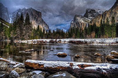 Winter In Yosemite Valley Poster