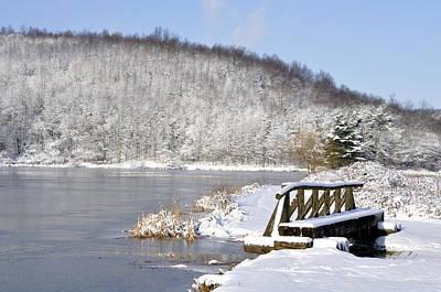 Winter Lake Poster by Thomas R Fletcher
