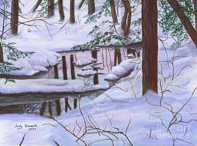 Winter Landscape Poster by Judy Filarecki