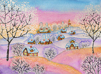 Winter Landscape, Painting Poster