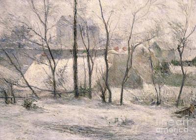 Winter Landscape Poster by Paul Gauguin