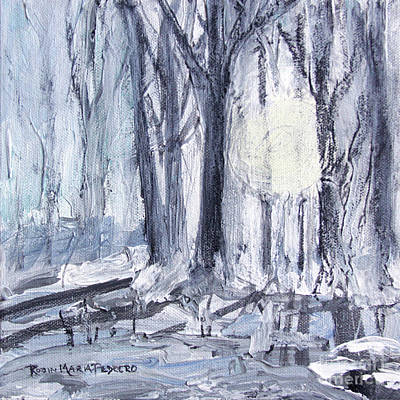 Poster featuring the painting Winter Light by Robin Maria Pedrero