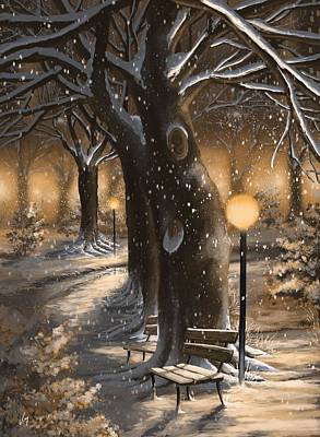 Poster featuring the painting Winter Magic by Veronica Minozzi