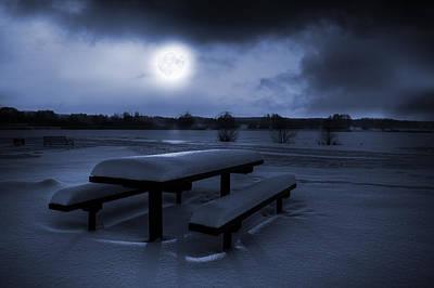 Winter Moonlight Poster by Jaroslaw Grudzinski
