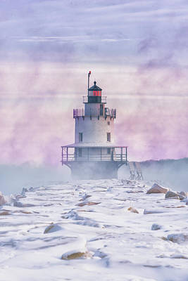 Winter Morning At Spring Point Ledge Poster