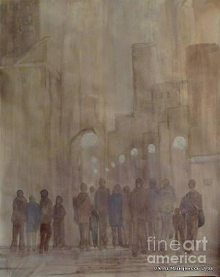 Winter Morning In The City Poster by Anna Folkartanna Maciejewska-Dyba