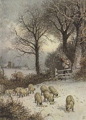 Winter Poster by Myles Birket Foster