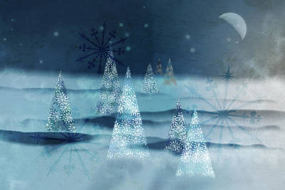Winter Night Poster by AugenWerk Susann Serfezi