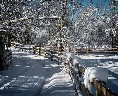 Winter On Ruskin Farm Poster