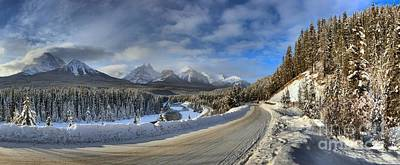 Morant's Curve On The Bow Valley Parkway Poster by Adam Jewell