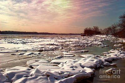 Winter On The Delaware Poster by Tom Gari Gallery-Three-Photography