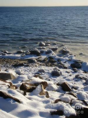 Poster featuring the photograph Winter On The Long Island Sound by Kristine Nora