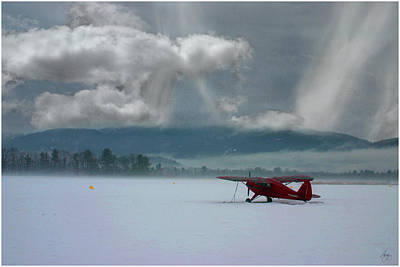 Winter Plane Poster
