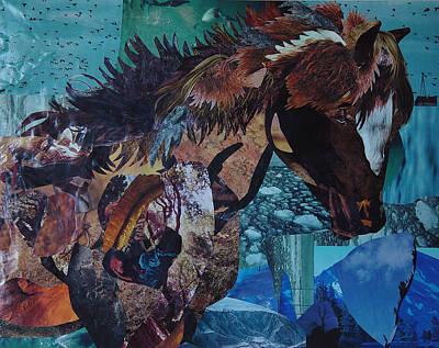 Winter Pony Poster by Karen Rester