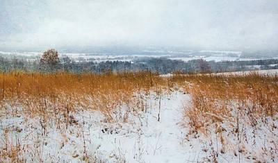 Winter Prairie At Retzer Nature Center  Poster by Jennifer Rondinelli Reilly - Fine Art Photography