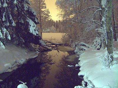 Poster featuring the photograph Winter River by Sami Tiainen