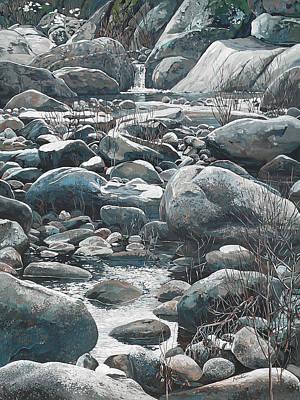 Winter Rocks Poster by Nadi Spencer