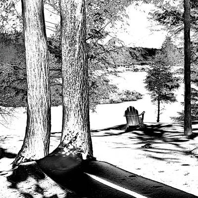 Poster featuring the photograph Winter Shadows by David Patterson