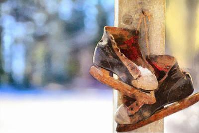 Winter Skates Poster by Ryan Burton