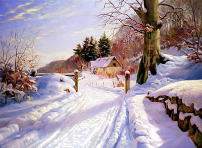 Winter Snow Glow Poster