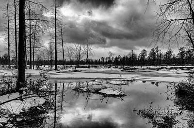 Winter Storm Landscape Poster by Louis Dallara