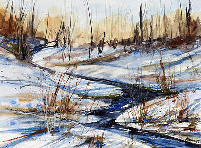 Winter Stream Poster by Judith Levins
