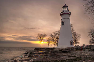 Winter Sunrise At Marblehead Lighthouse Poster