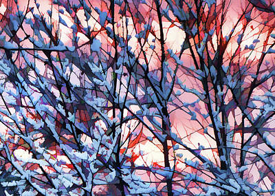 Winter Sunrise Poster by Betsy Zimmerli