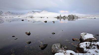 Poster featuring the photograph Winter Sunrise Glencoe by Grant Glendinning