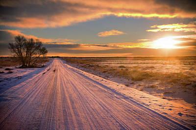 Winter Sunrise Light Poster