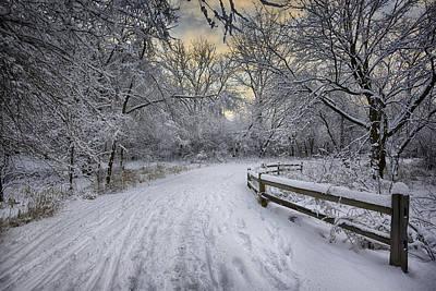 Winter Sunrise Poster by Sebastian Musial