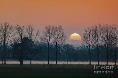 Winter Sunset 1 Poster by Jean Bernard Roussilhe