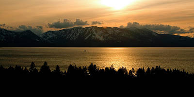 Winter Sunset At Lake Tahoe Poster