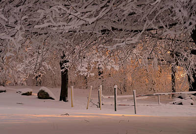 Winter Sunset Ft Hill Park Poster