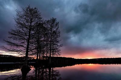 Winter Sunset Poster by Jeremy Clinard