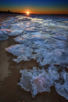 Winter Sunset On Fire Island Poster by Rick Berk