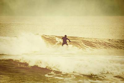 Winter Surfing At Casino Pier Poster