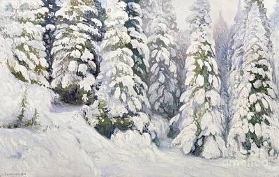 Winter Tale Poster by Aleksandr Alekseevich Borisov