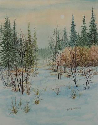 Winter Trail Alberta Poster