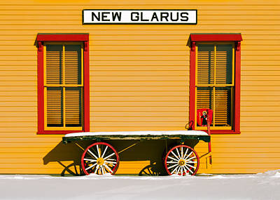 Winter Wagon Poster by Todd Klassy