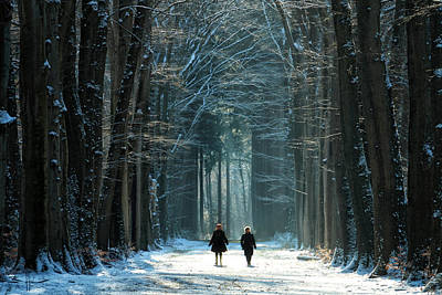 Winter Walk Poster by Martin Podt