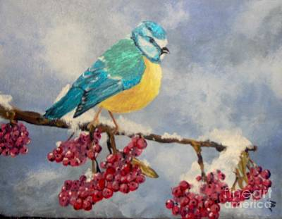 Poster featuring the painting Winter Watch by Saundra Johnson