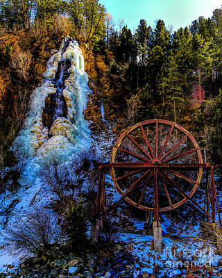 Winter Water Wheel Poster by Jon Burch Photography