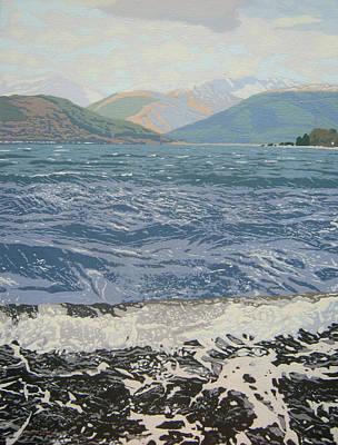 Winter Waves Poster by Malcolm Warrilow