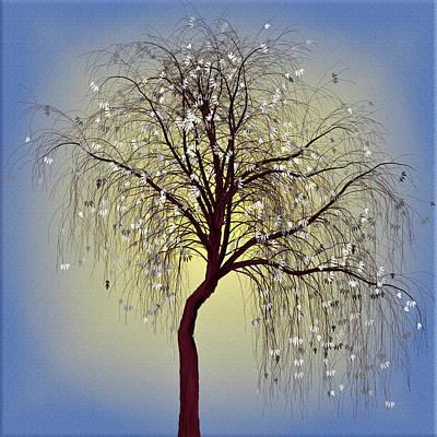 Winter White Poster by Debra and Dave Vanderlaan