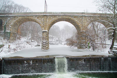 Winter Wonderland Along The Wissahickon Creek Poster