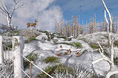 Winter Wonderland Bunnies Poster