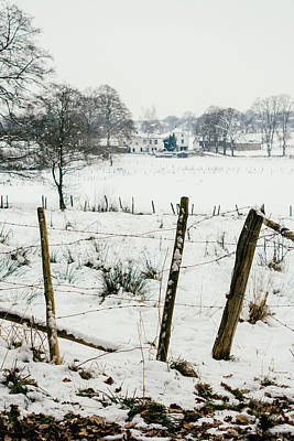 Winter World Behind The Fence Poster