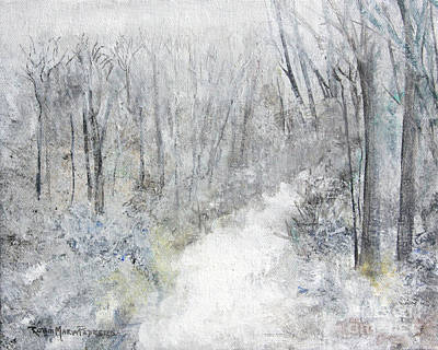 Poster featuring the painting Winter's Day by Robin Maria Pedrero
